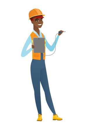 アフリカの電気の電気機器。  イラスト・ベクター素材