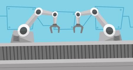 automated: Automated robotic conveyor belt.