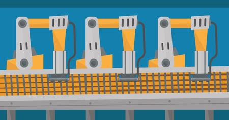 Automated robotic conveyor belt.