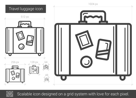 Travel luggage line icon.