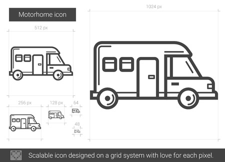Motorhome line icon. Illustration