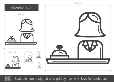 scalable: Reception line icon.