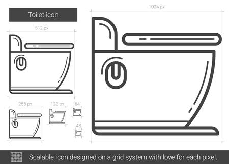 Toilet line icon.