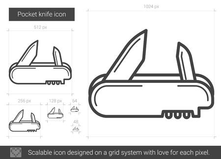 Pocket knife line icon.