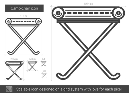 foldable: Camp-chair line icon.