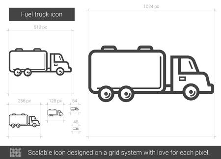 Fuel truck line icon.