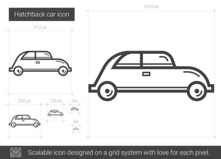 Hatchback car line icon. Illustration