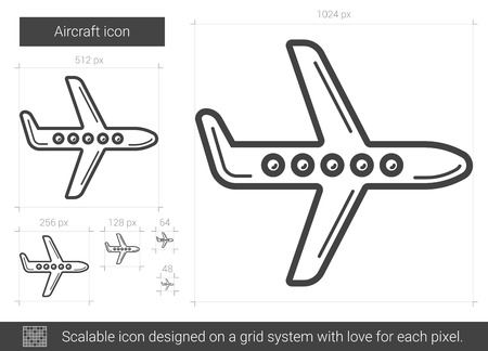 scalable: Aircraft line icon.