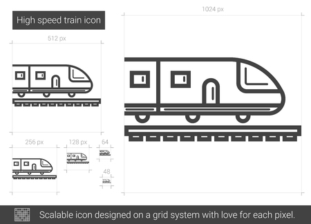 quickly: High speed train line icon.