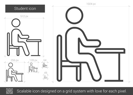Student line icon.