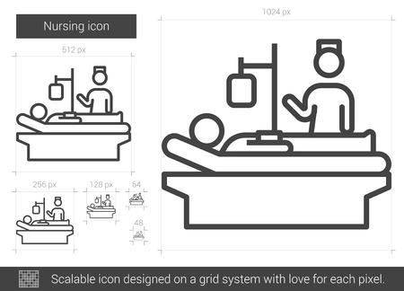 Nursing line icon. Ilustração