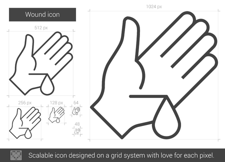 Wound line icon. Illustration