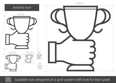 Awards line icon. Ilustrace