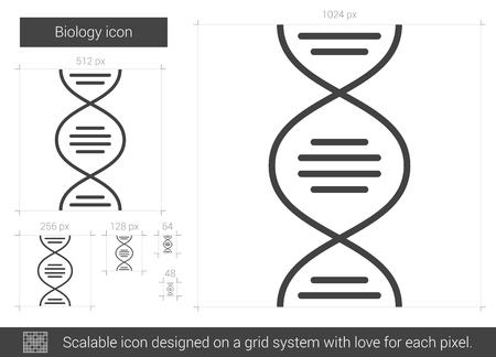Biology line icon.