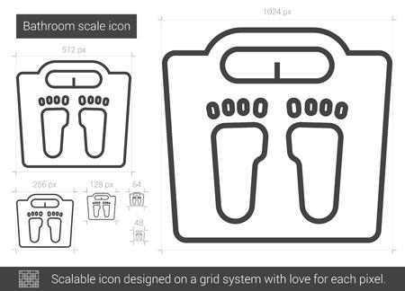 Bathroom scale line icon. Ilustração