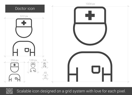 medico: Doctor line icon. Illustration