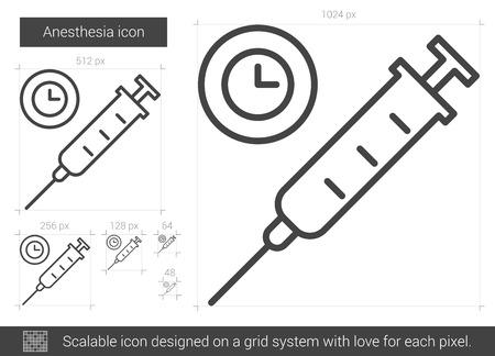 dosage: Anesthesia line icon. Illustration