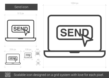 communicate  isolated: Send line icon. Illustration