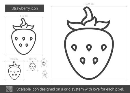 Strawberry line icon. Illustration