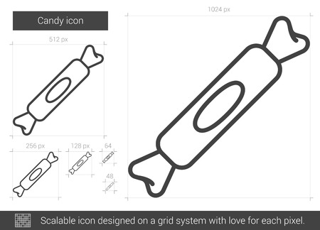 Candy line icon.