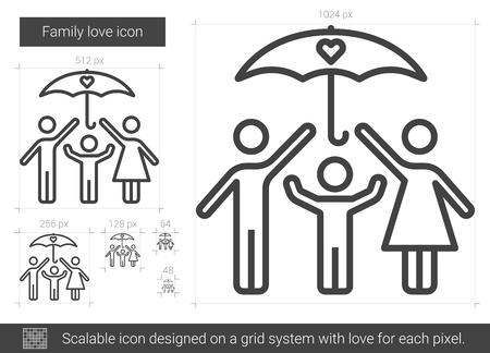 Family love line icon. Illustration