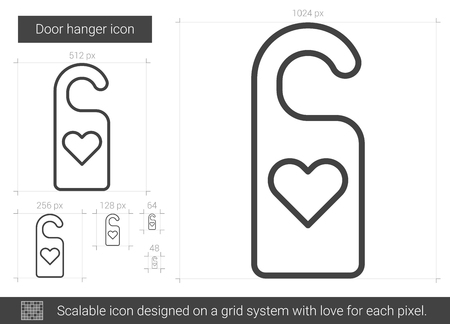 door hanger: Door hanger line icon.