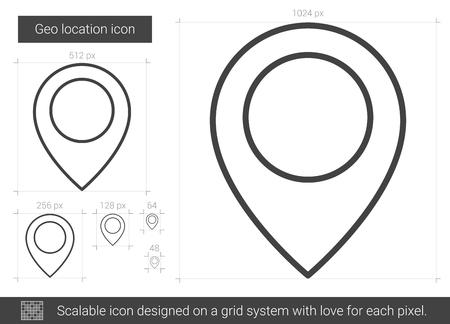 geo: Geo location line icon.