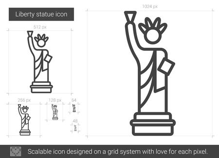 Liberty statue line icon.