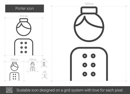 Porter line icon. Illustration