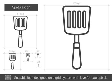 Spatula line icon. Illustration