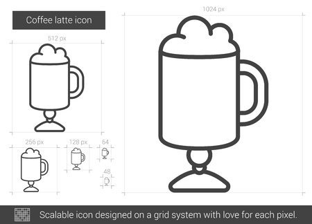 Coffee latte line icon. Illustration
