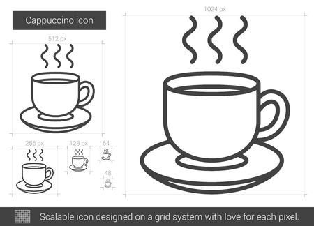 teaparty: Cappuccino line icon.