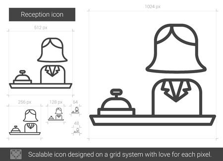 Reception line icon.