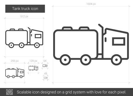Tank truck line icon.