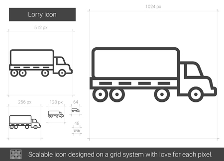 Lorry line icon.