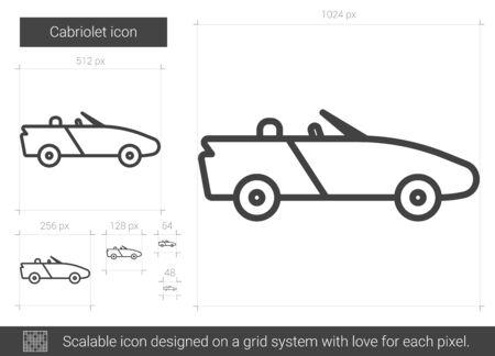 Cabriolet line icon.