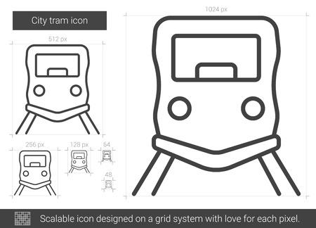 City tram line icon.