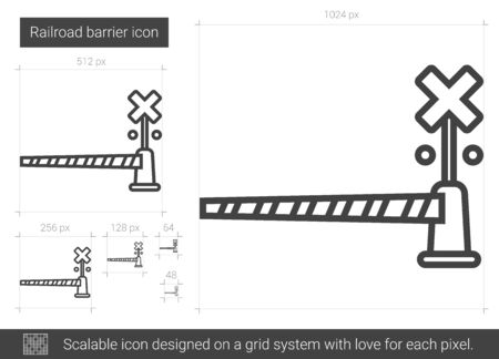 Railroad barrier line icon.