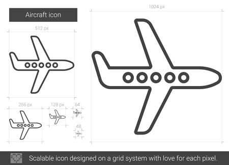 Aircraft line icon.