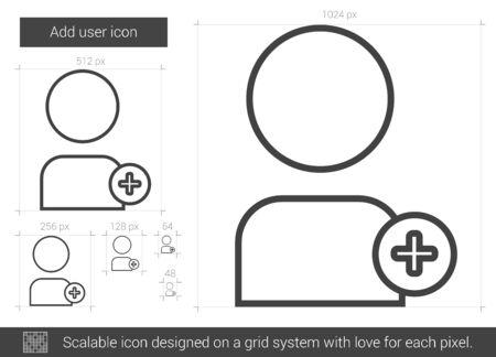 Add user line icon.