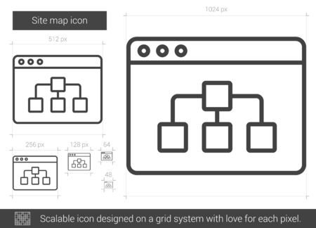 site map: Site map line icon. Illustration