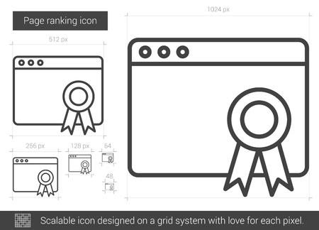 Page ranking line icon. Illustration