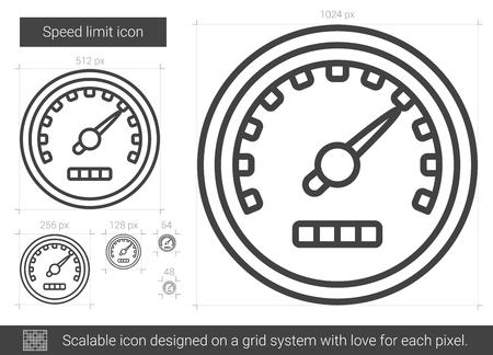Speed limit line icon. Illusztráció