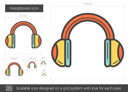 Headphones line icon.