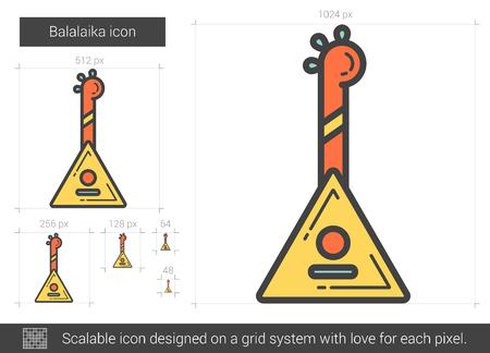 scalable: Balalaika line icon.