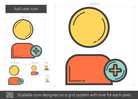 addition: Add user line icon.