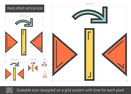 reflect: Redo reflect vertical line icon.
