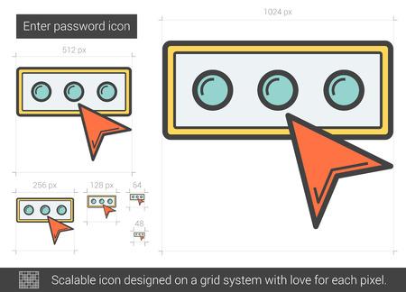 Enter password line icon.