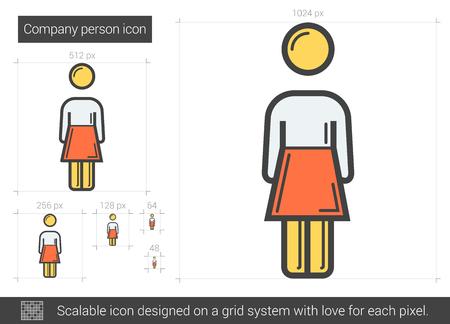 Company person line icon. Çizim