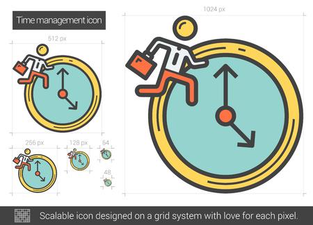 Time managment line icon. Illustration